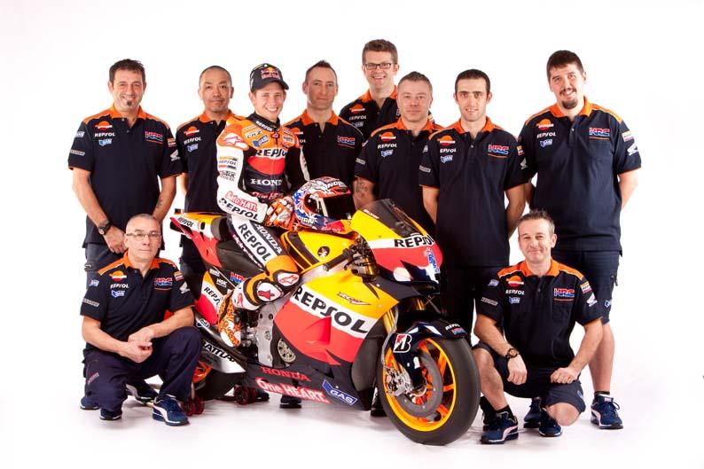 Equipo Honda Repsol MotoGP 2012. Galería de fotos