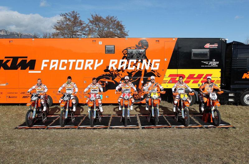 Presentación del equipo KTM de Enduro