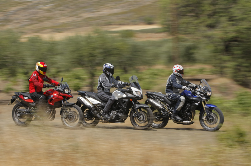 Comparativa trail medias: BMW, Suzuki y Triumph. Fotos