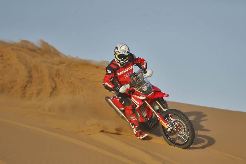 Sam Sunderland. Honda HRC CRF450 Rally