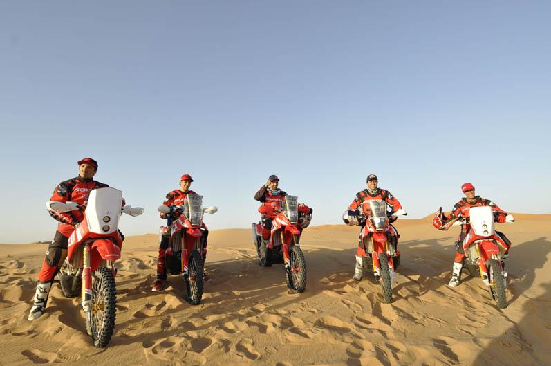 Equipo HRC Rally de Marruecos