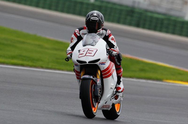 Marc Márquez, con su Honda de MotoGP