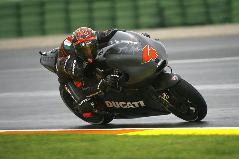 Andrea Dovizioso. Entrenamientos Valencia. Pretemporada 2013