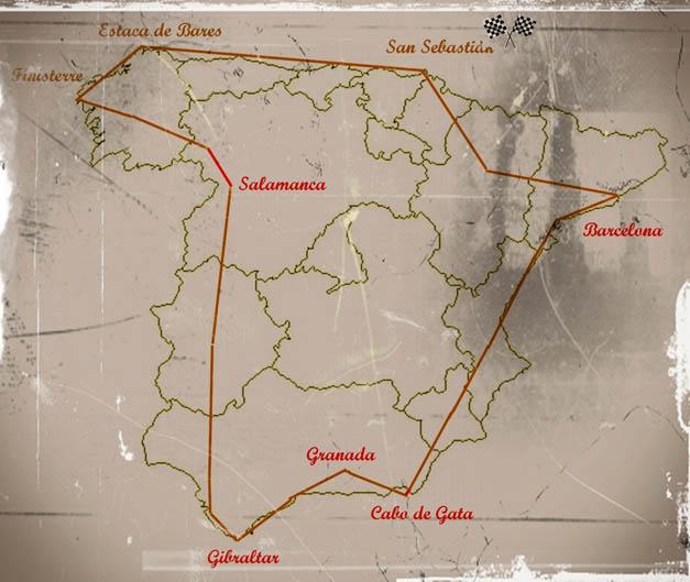 Vuelta a España en Vespa.