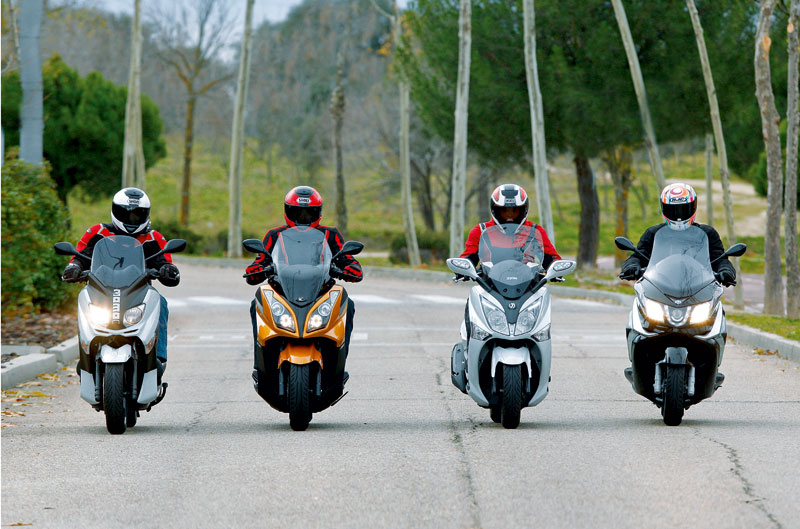 Comparativa scooter 300 GT