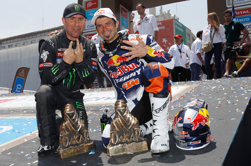 Dakar 2013. Cyril Despres y Stephane Peterhansel