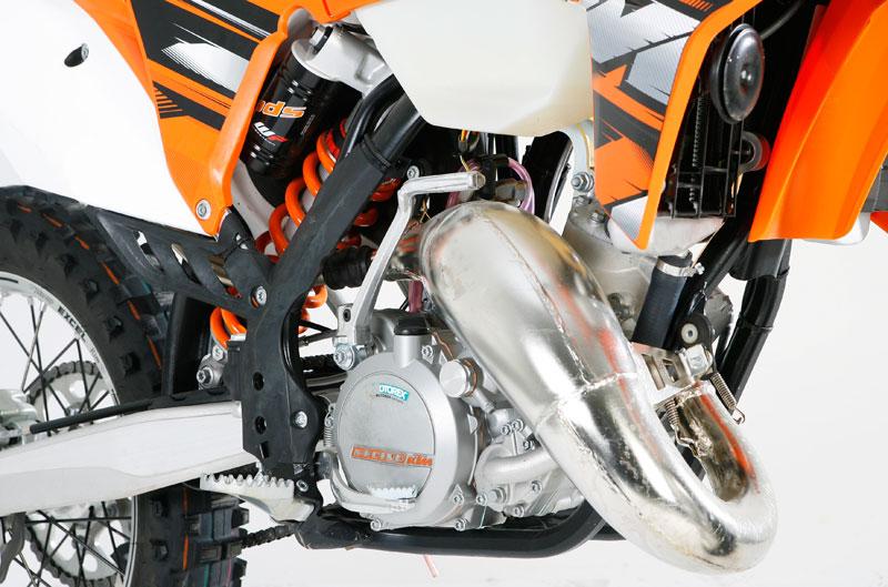 KTM 125 EXC. Prueba