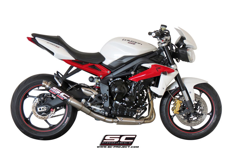 Silencioso SC-Project para la Triumph Street Triple 675