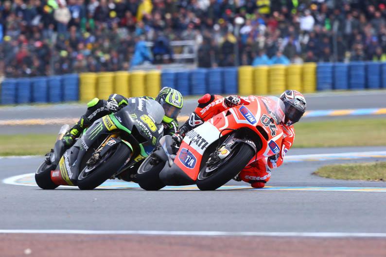 Dovizioso y Crutchlow. GP Francia MotoGP 2013