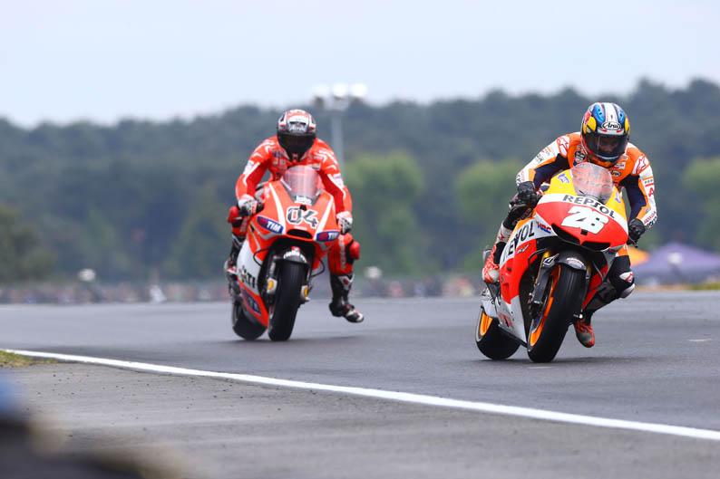 Pedrosa y Dovizioso. GP Francia MotoGP 2013