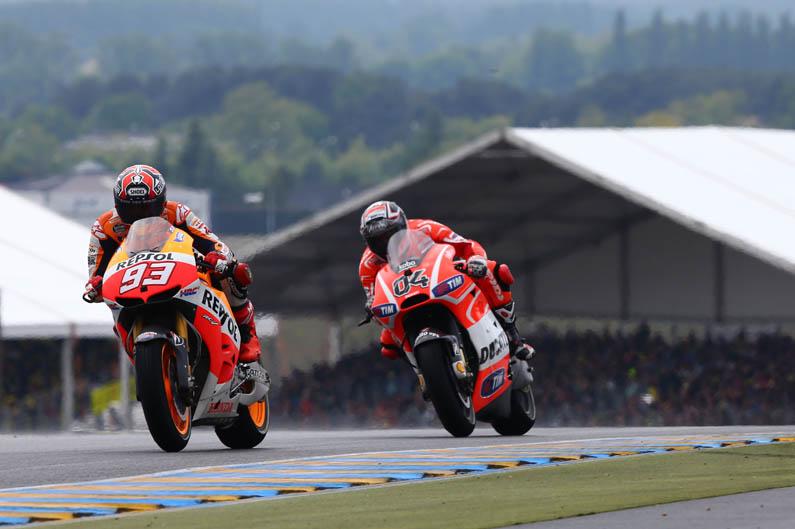 Márquez y Dovizioso. GP Francia MotoGP 2013